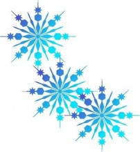 Image of blue snowflakes